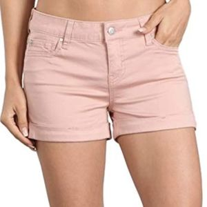 EUC Celebrity Pink Cuffed Pink Denim Shorts 5